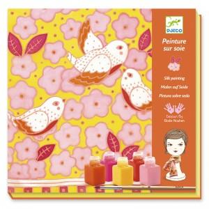 Djeco комплект за декорация на копринен шал Sparrows