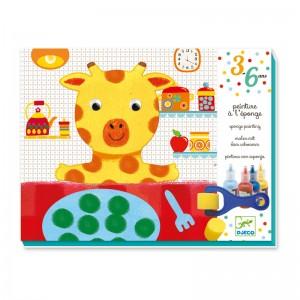 Djeco Комплект за оцветяване с боички и валяк