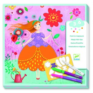 Djeco Комплект за оцветяване Marie's pretty dresses