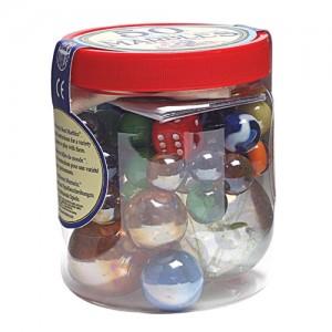 House of Marbles буркан с 50 бр. топчета