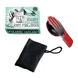 House of Marbles джобно ножче с вилица и лъжица Junior Adventure