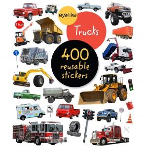 Книжка със стикери за многократна употреба превозни средства