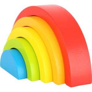 small foot дървен конструктор Rainbow