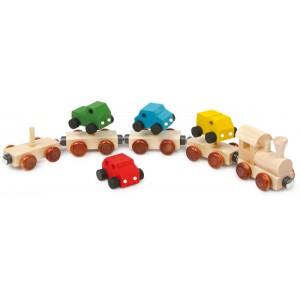 small foot дървено влакче автовоз