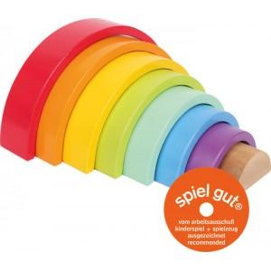 small foot Голям дървен конструктор Rainbow