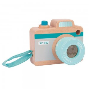 Lelin Toys Дървен детски фотоапарат