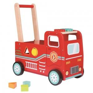 Lelin Toys Бебешка проходилка Пожарна 2 в 1