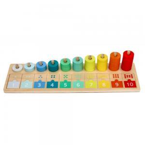 Lelin Toys Дървена низанка с числа