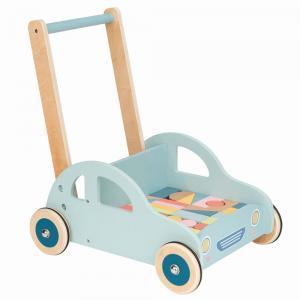 Lelin Toys Бебешка проходилка с конструктор