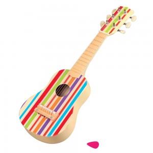 Lelin Toys Дървена детска китара