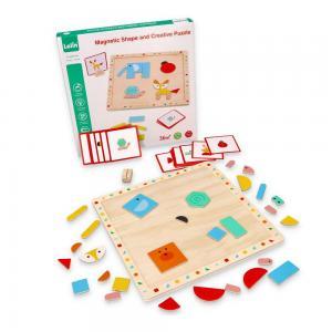 Lelin Toys Магнитна игра с форми
