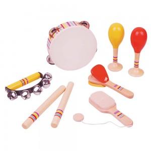 Lelin Toys Комплект дървени музикални инструменти