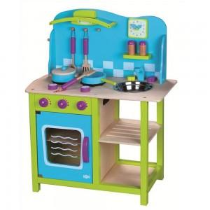 Lelin Toys дървена кухня Морски бриз