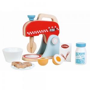 Lelin Toys Дървен миксер с продукти