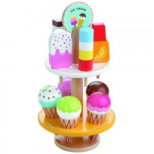 Lelin Toys дървен щанд за сладолед