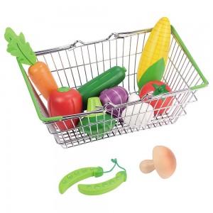 Lelin Toys Детска кошница за пазар със зеленчуци