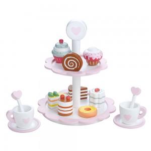 Lelin Toys Комплект за чай с кексчета