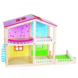 Lelin Toys дървена къща за кукли Фантазия
