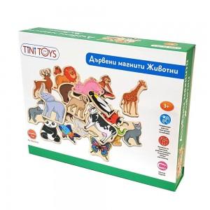 Lelin Toys Дървени магнити Животни