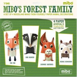 Mibo животни от хартия горска дружина