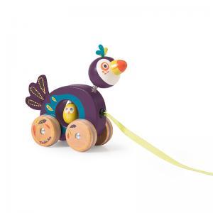 Moulin Roty Мини играчка за дърпане - тукан