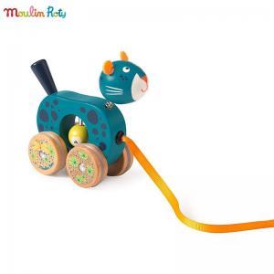 Moulin Roty Мини играчка за дърпане - пантера