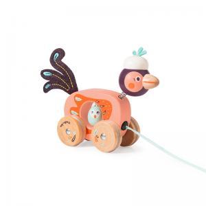 Moulin Roty Мини играчка за дърпане - птица