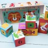 Детски, картонени кубчета Colourful Creatures