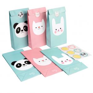 Panda, Bunny And Cat подаръчна торбичка със стикер