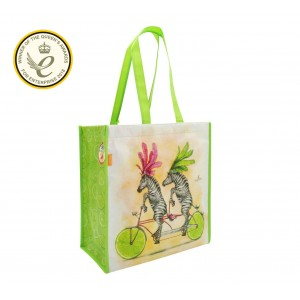 Santoro пазарска чанта Fruity Scooty Zebras
