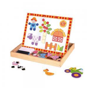 Tooky Toy Двустранна дъска с магнити - Ферма