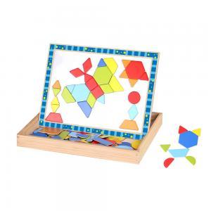 Tooky Toy Двустранна дъска с магнити - Форми и цветове