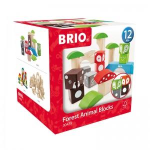 Brio дървени кубчета forest pedagogic
