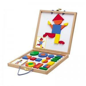 Djeco Комплект с дървени магнити Boxed set Geoform