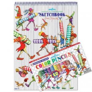 eeBoo комплект за рисуване Striped Biggies