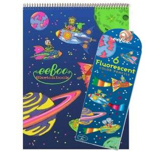 eeBoo комплект за рисуване Rocket Fluorescent
