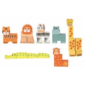 Egmont Дървени кубчета животни