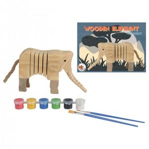 Egmont Дървено слонче за оцветяване