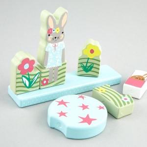 Floss&Rock дървен магнитен пъзел Bunny Rabbit