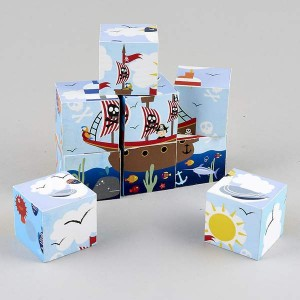 Floss&Rock дървени кубчета пирати