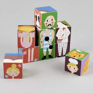 Floss&Rock дървени кубчета Characters