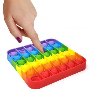 POP IT Rainbow BUBBLE FIDGET Квадрат