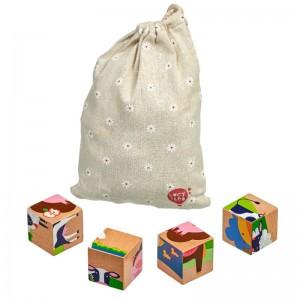 LucyLeo Дървени кубчета Животни