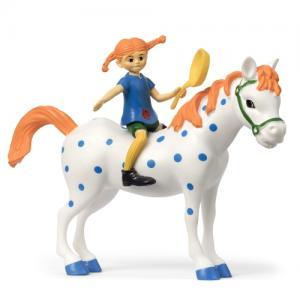 Micki Комплект фигурки Пипи и нейният любим кон