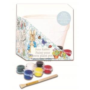 Peter Rabbit Саксия за оцветяване с боички