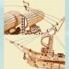 Robotime Дървен 3D пъзел Sailling Ship