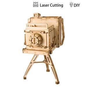 Robotime Дървен 3D пъзел Vintage Camera