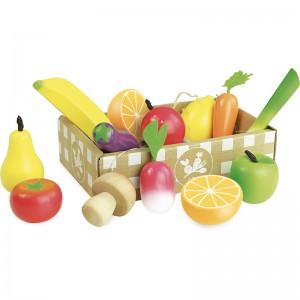 Vilac дървен комплект плодове и зеленчуци