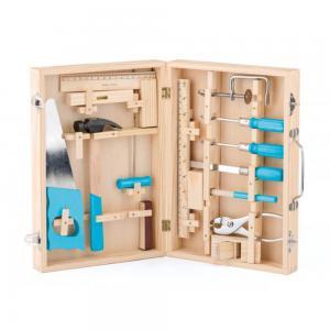 Woodyland Дървен куфар с метални инструменти