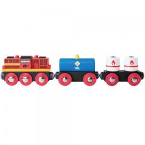 WOODY дървено товарно влакче с дизелов локомотив